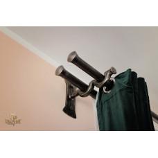Wrought iron double curtain rod (DPK-92)