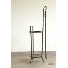 A wrought-iron umbrella stand with a shoehorn (DPK-79)