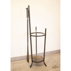 A wrought-iron umbrella stand with a forged shoehorn (DPK-78)