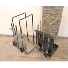 A stainless steel fireplace set  (KK/14)