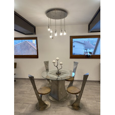 A modern stainless steel table - stainless steel furniture (NBK-63)