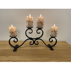 Advent forged candle holder – small black (SV/24)