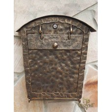 A wrought iron letterbox  (DPK-30)