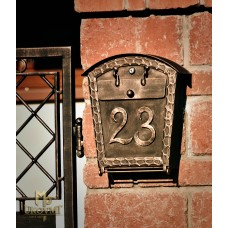 A wrought iron letterbox  (DPK-31)