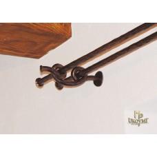 Wrought iron double curtain rod  (DPK-90)