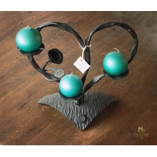 A wrought iron candle holder - The heart
