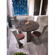 A modern stainless steel table - modern furniture (NBK-64)