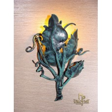 A wall wrought iron lamp  - Sunflower (SI0502)