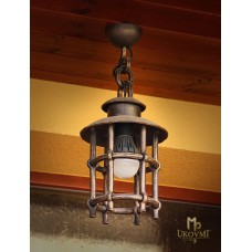 A wrought iron hanging light  Classic M (SE0422)