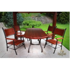 A wrought iron table - garden furniture (NBK-106)