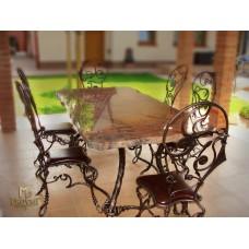 A wrought iron table - garden furniture (NBK-107)