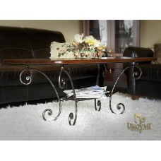 A wrought iron coffee table - luxury furniture (NBK-109)