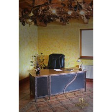 A wrought iron office desk (NBK-110)