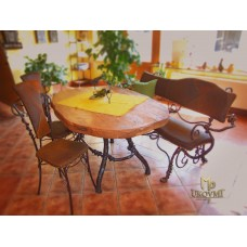 A wrought iron table (NBK-114)