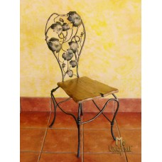 A wrought  iron chair Grapes - luxury furniture (NBK-24)