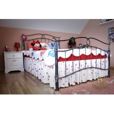 A wrought iron bed - romantic furniture (NBK-255)