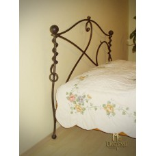 A wrought iron bed - hand-forged bedroom furniture (NBK-260)