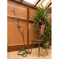 A wrought iron hanger