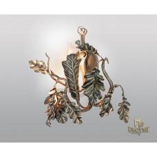 A wrought iron light Oak (SI0301)