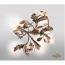 A wrought iron light Oak (SI0315)