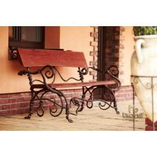 A wrought iron bench - garden furniture (SL-01)