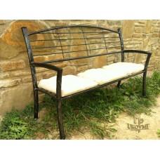 A wrought iron bench - garden furniture (SL-06)