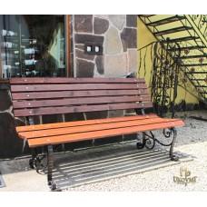 A wrought iron bench - garden furniture (SL-07)