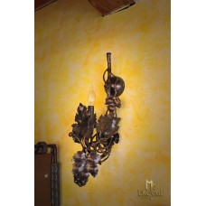 A wall wrought iron lamp - The vine with grapes (SI0201)