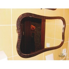 A mirror with a wrought iron frame  (NBK-306)