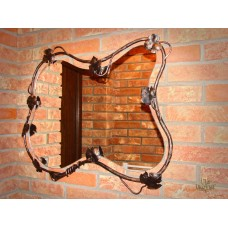 A mirror with a wrought iron frame (NBK-307)