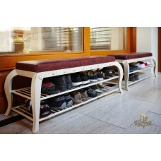 A wrought iron shoe rack (NBK-202)