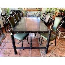 Luxury dining table - wrought iron furniture (NBK-56)