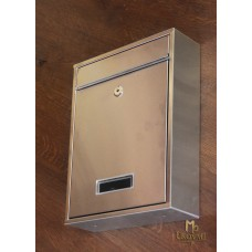 A stainless steel letterbox  (N/30/N)