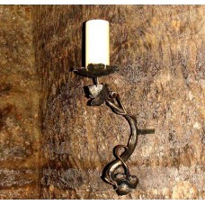 A wrought iron candle holder - The vine branch  (SV/31)