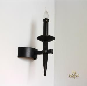 A historical side-wall lighting 'ANTIK' – forged one-candle lamp (SI0801)