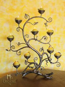 A hand forged candle holder - Shrub (SV/70)