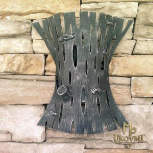 A wrought iron wall light Bark - KÔRA (LB-30)