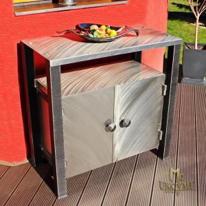 A stainless steel cabinet - modern furniture (NBK-130)