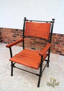 A wrought iron chair - garden furniture (NBK-10)