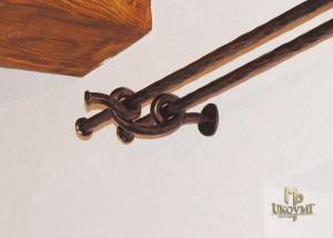 Wrought iron double curtain rod  (DPK-90)