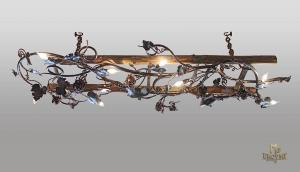 A wrought iron chandelier - ladder - Grapevine (SI0215)