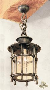 A wrought iron hanging light KLASIK/T (SE5002)
